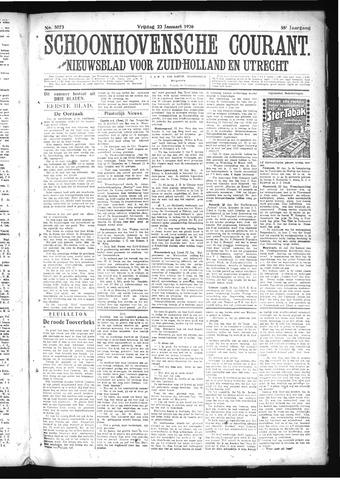 Schoonhovensche Courant 1926-01-22