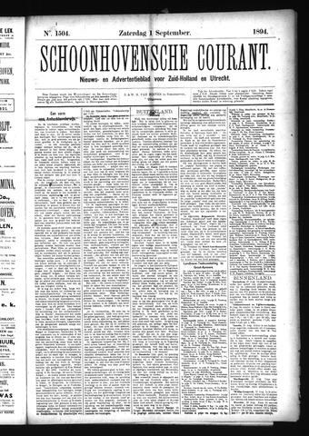 Schoonhovensche Courant 1894-09-01