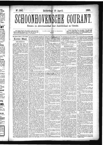 Schoonhovensche Courant 1893-04-15