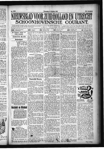 Schoonhovensche Courant 1928-10-24