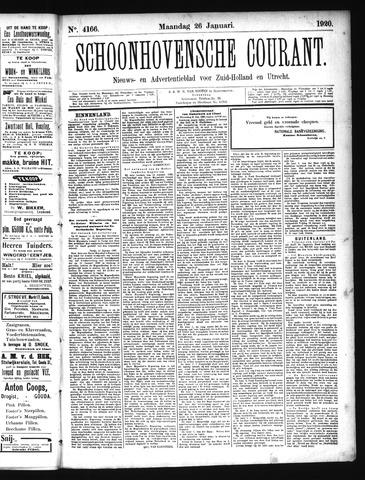 Schoonhovensche Courant 1920-01-26