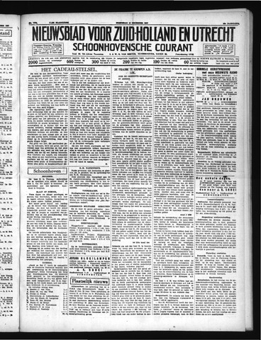Schoonhovensche Courant 1937-12-15