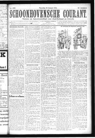 Schoonhovensche Courant 1924-01-28