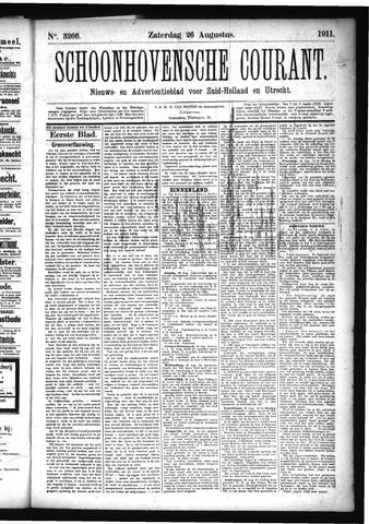 Schoonhovensche Courant 1911-08-26