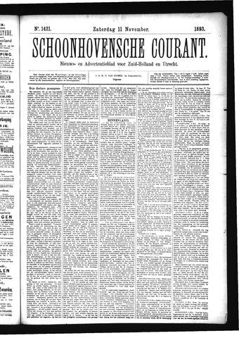 Schoonhovensche Courant 1893-11-11