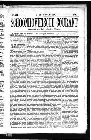 Schoonhovensche Courant 1881-03-20