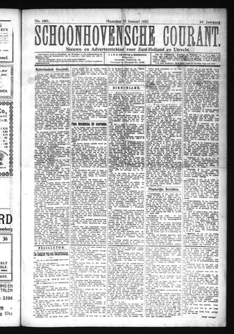 Schoonhovensche Courant 1922-01-23