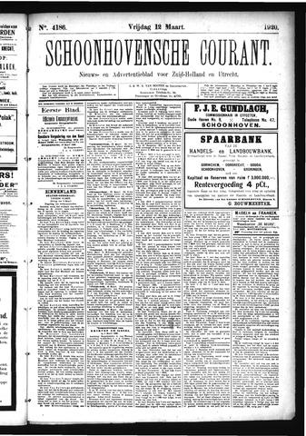 Schoonhovensche Courant 1920-03-12