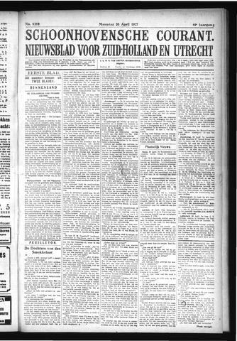 Schoonhovensche Courant 1927-04-25