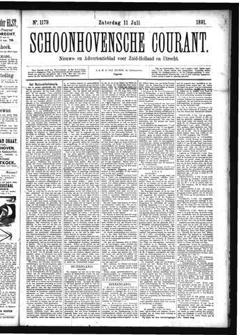 Schoonhovensche Courant 1891-07-11