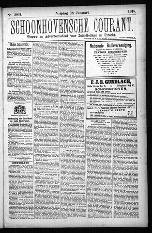 Schoonhovensche Courant 1918-01-18