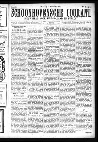 Schoonhovensche Courant 1924-09-15