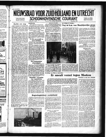 Schoonhovensche Courant 1950-10-25
