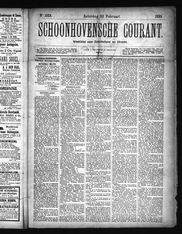 Schoonhovensche Courant 1889-02-23