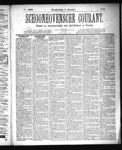 Schoonhovensche Courant 1912-01-04