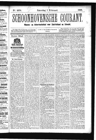 Schoonhovensche Courant 1903-02-07