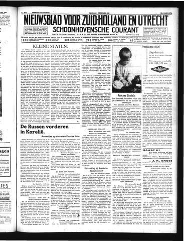Schoonhovensche Courant 1940-02-09