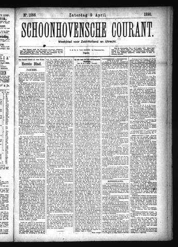 Schoonhovensche Courant 1890-04-05