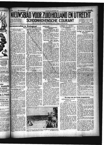 Schoonhovensche Courant 1942-09-28