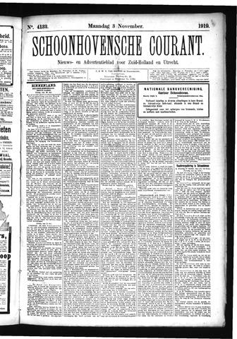 Schoonhovensche Courant 1919-11-03