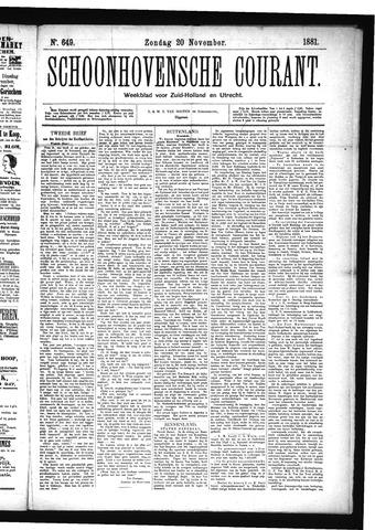 Schoonhovensche Courant 1881-11-20