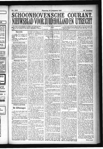 Schoonhovensche Courant 1927-08-29
