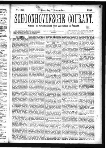 Schoonhovensche Courant 1896-11-07
