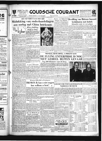 Goudsche Courant 1952-01-07
