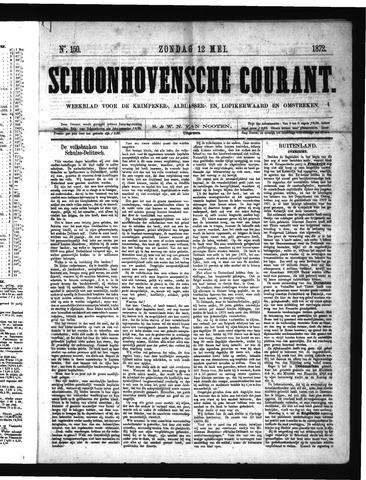 Schoonhovensche Courant 1872-05-12