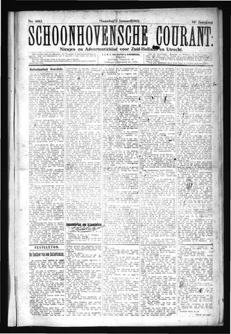 Schoonhovensche Courant 1922-01-02