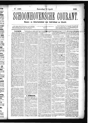 Schoonhovensche Courant 1895-04-13