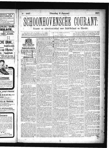 Schoonhovensche Courant 1917-01-09