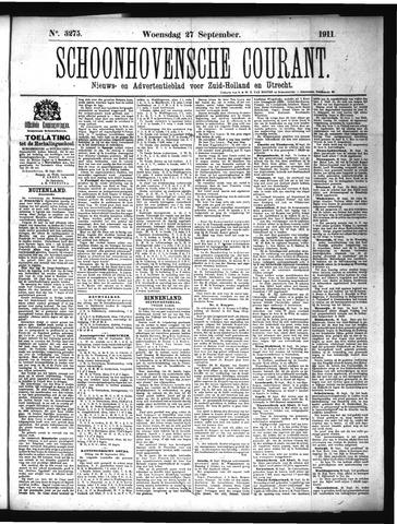 Schoonhovensche Courant 1911-09-27