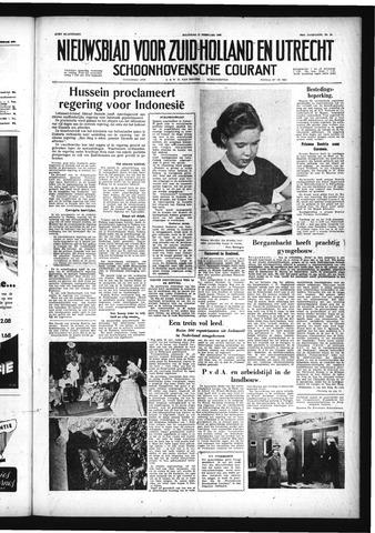 Schoonhovensche Courant 1958-02-17