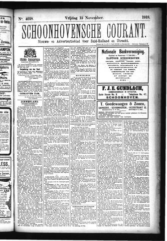 Schoonhovensche Courant 1918-11-15