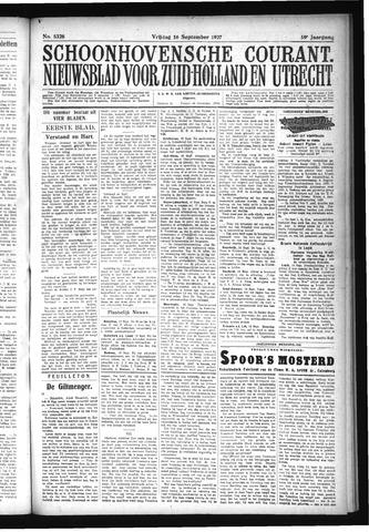 Schoonhovensche Courant 1927-09-16