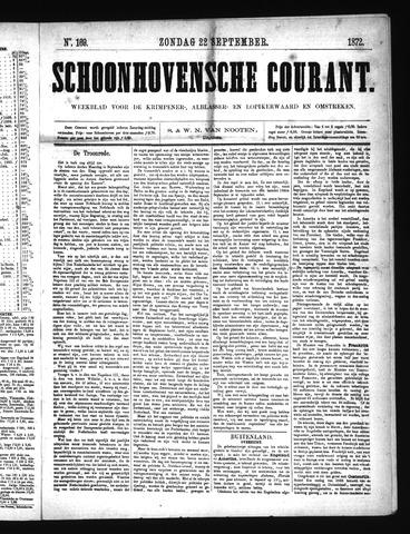 Schoonhovensche Courant 1872-09-22