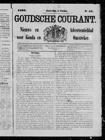Goudsche Courant 1862-10-08