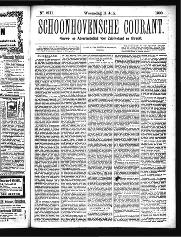 Schoonhovensche Courant 1900-07-11