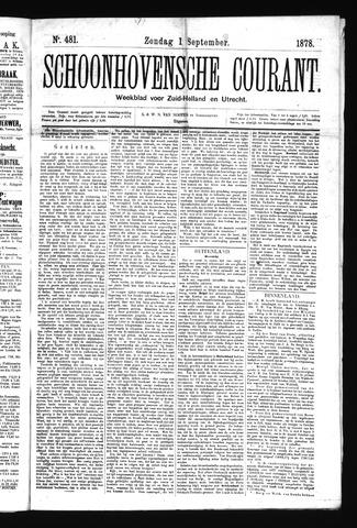 Schoonhovensche Courant 1878-09-01