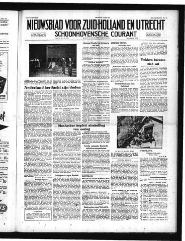 Schoonhovensche Courant 1951-05-07