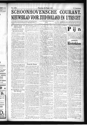 Schoonhovensche Courant 1927-03-28
