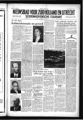 Schoonhovensche Courant 1956-10-12