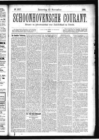 Schoonhovensche Courant 1891-11-21