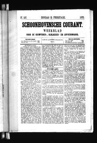 Schoonhovensche Courant 1872-02-11