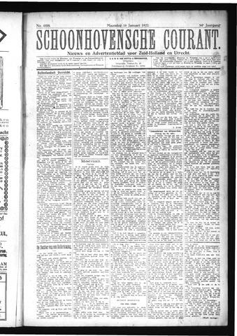 Schoonhovensche Courant 1922-01-16