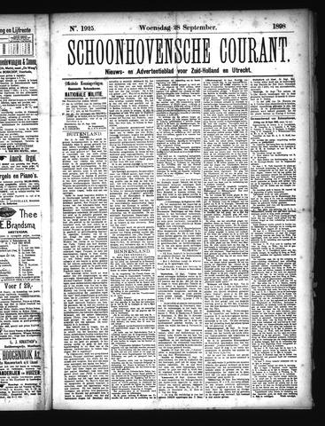 Schoonhovensche Courant 1898-09-28