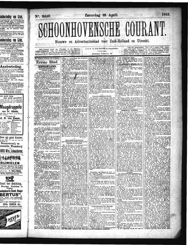 Schoonhovensche Courant 1913-04-26