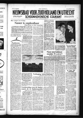 Schoonhovensche Courant 1956-09-07