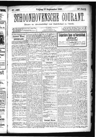 Schoonhovensche Courant 1920-09-17
